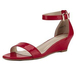 Ankle Strap Low Wedge Sandal